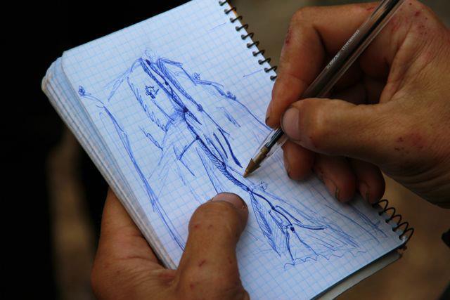 Dibujando la nueva vía. Eider Elizegi